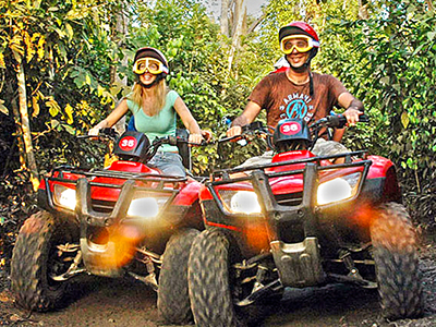 Cozumel ATV Snorkel Tour to discover Cozumel Mayan ruins with a COzumel ATV Adventure