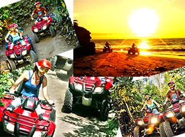 cozumel atv snorkel tour to discover Cozumel Mayan Ruins and go snorkeling at a Cozumel Beach club
