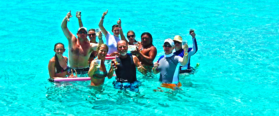 Cozumel Cielo Party with Tiger and Tigers Adventures snorkel and cielo tour